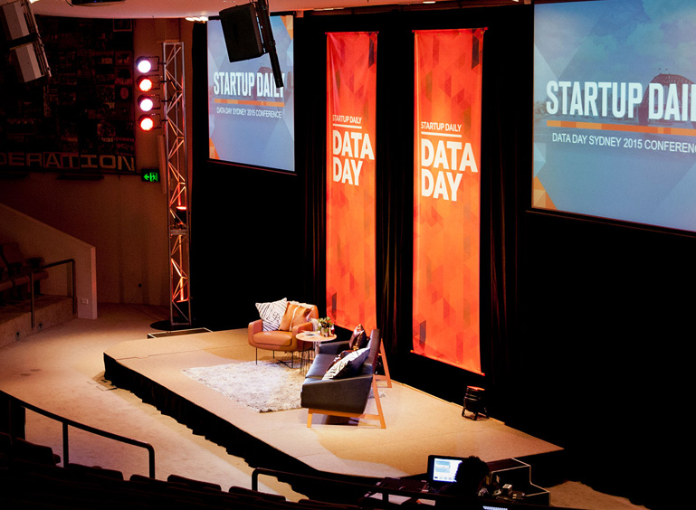Data Day Startup Daily Conference Banner Design print