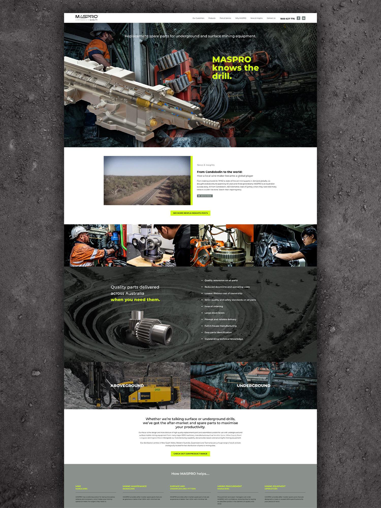 Maspro Engineering Website Design Development