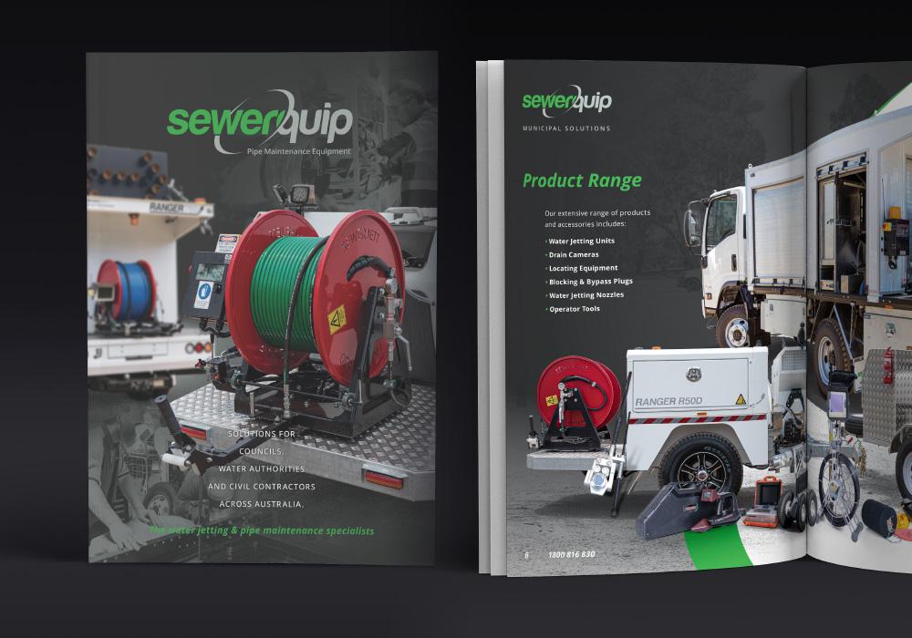 Sewerquip Corporate Brochure Design