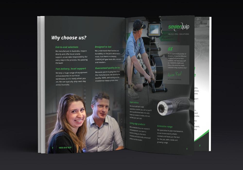 Sewerquip corporate profile design