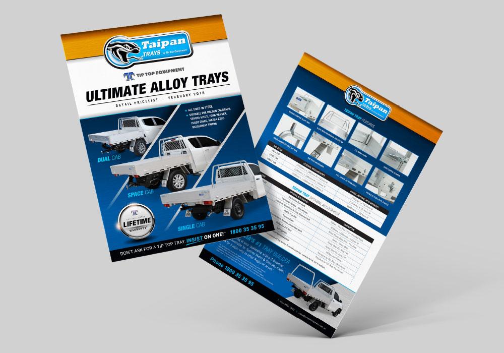 Tip top equipment brochure design