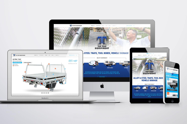 Tip top equipment website design